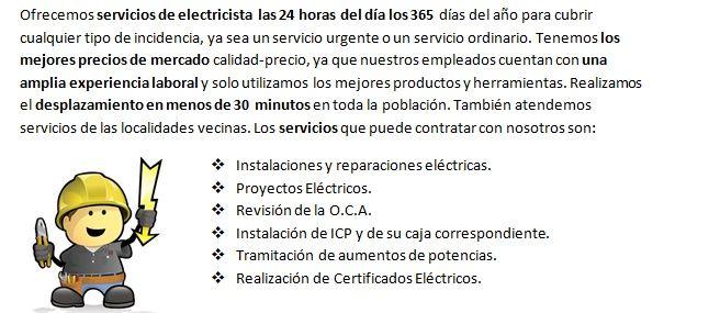 Electricistas Vall de Uxó de Urgencia